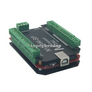 Usbmach3 Breakout Board Card 4 Axis Controller Cnc 100khz For Stepper Motor