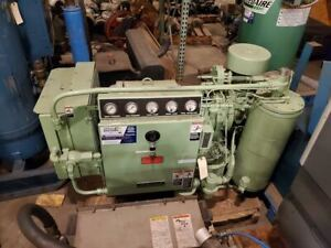 Used 40 hp Sullair Ls 10 40 Rotary Air Compressor open Skid air Cooled 230 460v