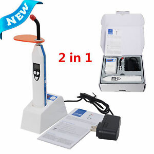 2 In 1 Wireless Led Dental Curing Light Lamp And Caries Detection 2000 Mw cm2