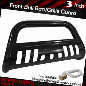 For 04 18 Ford F 150 Bull Bar With Skid Plate 3 Black Brush Push Grille Guards