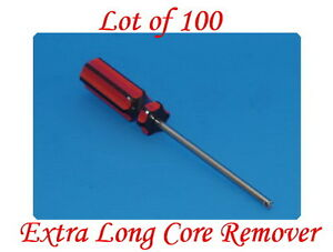 Lot Of 100 Extra Long Valve Stem Core Remover Tire Repair Tool Red