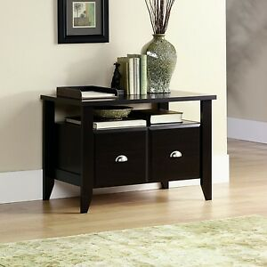 Wood File Cabinet 2 Drawer Furniture Home Office Filing Storage Lateral Brown