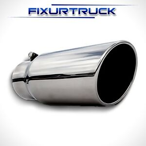 Stainless Steel Bolt On Diesel Exhaust Tip 4 In 5 Out 12 Long 4x5x12