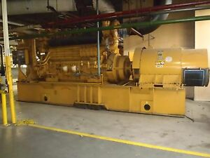 1400kw Continuous Caterpillar Diesel Generator D3606 Engine 900 Rpm Many Extras