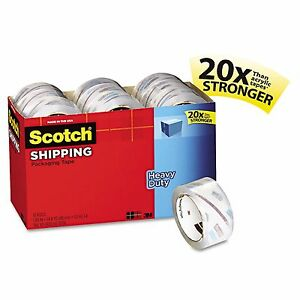 Scotch 3850 Heavy Duty Packaging Tape Cabinet Pack 1 88 X 54 6yds 18pk No Tax
