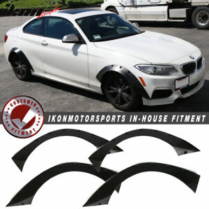 Universal 4 Pc 405x175 Ikon Rb Style Fender Flares 4 Piece Front And Rear Pu Fits 2010 Toyota Corolla