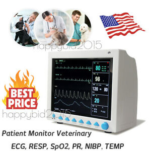 Veterinary Patient Monitor Vital Signs Ecg Nibp Spo2 Resp Temp Pr