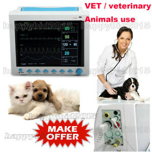 Portable Veterinary Icu Vital Sign Patient Monitor 6 Parameters Cms8000 Animals