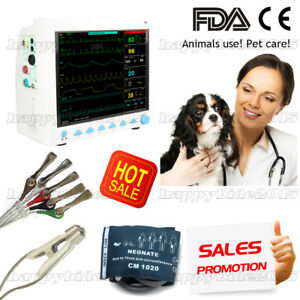 New Veterinary Icu Patient Monitor 6 Parameters animals Use usa Stock