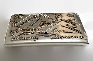 Imperial Russian Silver Cigarette Case With Gold Monograms Circa 1908