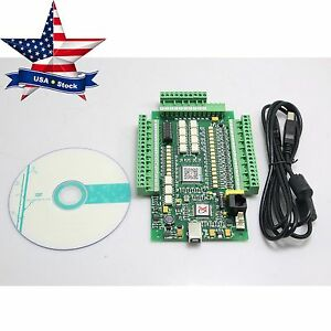 4 Axis E cut Usb Mach3 Stepper Motor Cnc Interface Breakout Driver Board In Usa