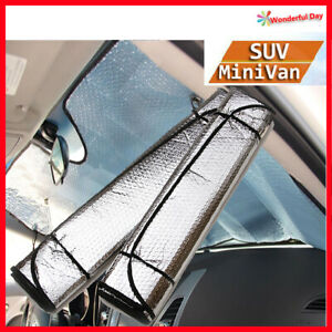Auto Car Sun Shade Foldable Sun Visor For Front Windshield Of Mini van Suv Large