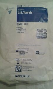 Lot 20pckx4 V704 b Sterile Contents 4 Blue Or Towels1non absorbent Wrap