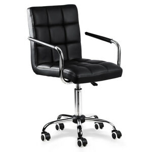 Modern Swivel Pu Leather Executive Office Chair Computer Desk Chair On Casters