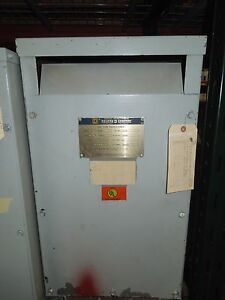Sorgel square D 25kva 600 120 240v 1ph Dry Type Transformer Used Electrically Ok