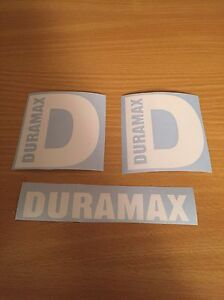 Duramax Diesel D 4 Stickers White Plus Extra Decal Truck 4x4