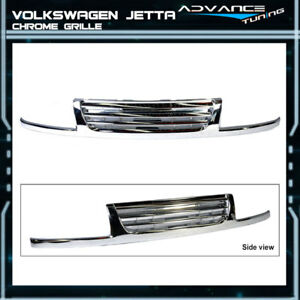 Fits 96 98 Volkswagen Vw Jetta 3 Mk3 A3 Front Bumper Grille Guards Chrome