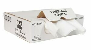 Ppg Md13 250 White Prep All Lint Free Rags Auto Body Shop Towels 250 Per Box