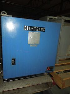 Mitsubishi 15kva 402 201 210v 3ph Dry Type Transformer Used E ok