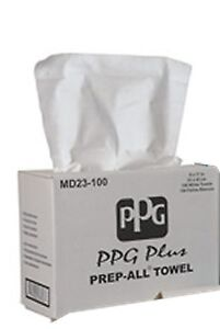 Ppg Md23 100 White Prep All Lint Free Rags Auto Body Shop Towels 100 Per Box