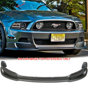 Fits 13 14 Ford Mustang Gt Front Bumper Lip Painted Sterling Gray Metallic Uj