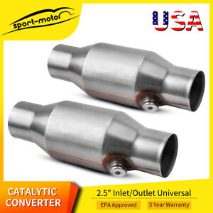 Two Universal Spun 2 5 High Flow Eco Ii Catalytic Converter 425250 Epa Approved