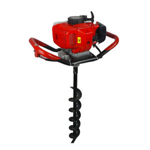 2 2hp Gas Powered 52cc Post Hole Digger 4 8 10 Earth Auger For Planting