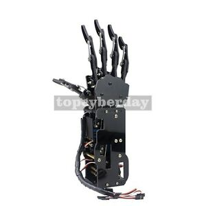 Assembled Acrylic Mechanical Robot Arm Claw Humanoid Right Hand