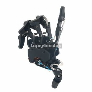 Assembled Mechanical Claw Clamper Gripper Arm Right Hand With Servos Robot Diy