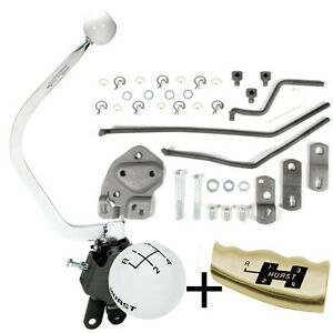 Hurst 4 Speed Shifter Kit 1955 1957 Chevy Bench Seat Late Muncie M20 M21 M22