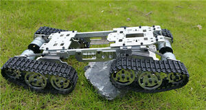 Metal Robot Atv Track Tank Chassis Suspension Obstacle Crossing Crawle Cnc