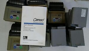 Lot Of 9 Zebra Cameo 3 Portable Thermal Receipt Printer With 23 Batteries