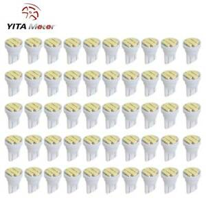 50pcs Cool White T10 8smd Wedge Interior Led Light Bulb W5w 192 194 158 168 2825