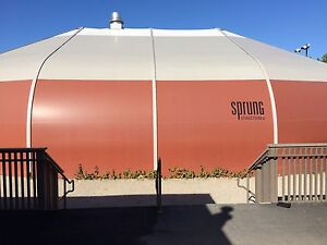 Used Sprung Vinyl Building Basketball Court 60 Wide x 80 Long