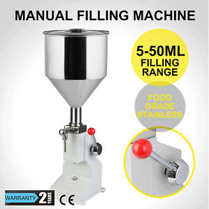 5 50ml Manual Filling Machine For Cream Shampoo Cosmetic 10kg Liquid Filler