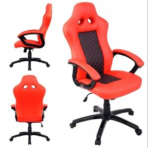 Gaming Chair High Back Race Car Style Bucket Seat Office Desk Chair Us Ship