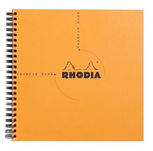 Rhodia Wirebound Reverse Notebook Orange Graph 8 25 X 8 25 New R193608