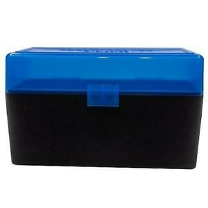 AMMO BOXES (5) BLUE 50 Round 308  243  More- Berry's Plastic Container