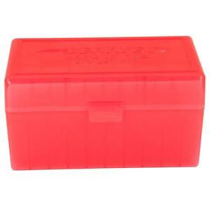 BERRY'S PLASTIC AMMO BOXES (5) RED 50 Round 308  243  More- FREE SHIPPING