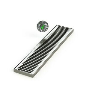 Acu Precision Sheet Metal 0100 24 Surface Mount Drip Tray No Drain Stainless S