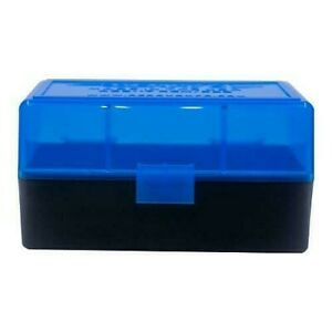 AMMO BOXES (5) BLUE 50 Round 223  5.56 - Berry's Plastic Container