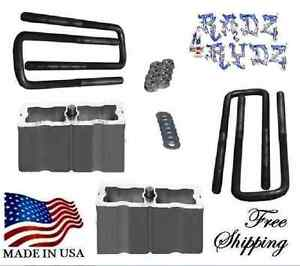 1988 2010 Chevy Silverado Gmc Sierra C K 2500 3500 3 Lift Blocks Lift Kit