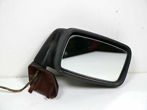 Porsche 944 951 Passenger Side Door Mirror Black Burgundy