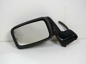 Porsche 944 951 Driver Side Door Mirror Black Burgundy