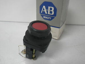 800h ar6a Allen Bradley Ser F Push Button Bootless Flush Head Red Cap new