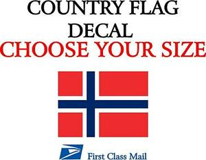 Norwegian Country Flag Sticker Decal 5yr Vinyl State Flag
