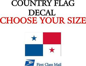 Panamanian Country Flag Sticker Decal 5yr Vinyl State Flag