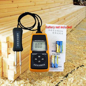 Md7820 Hygrometers Digital Wood Moisture Meter Tester Temperature Meter