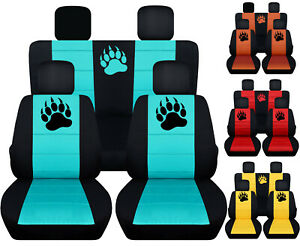 Cc Fit Jeep Wrangler 2 Or 4 Door 2007 17 Paw Prints Front back Car Seat Covers