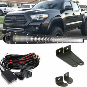For 05 15 Toyota Tacoma 30 Offroad Led Light Bar Hidden Bumper Mounting Bracket